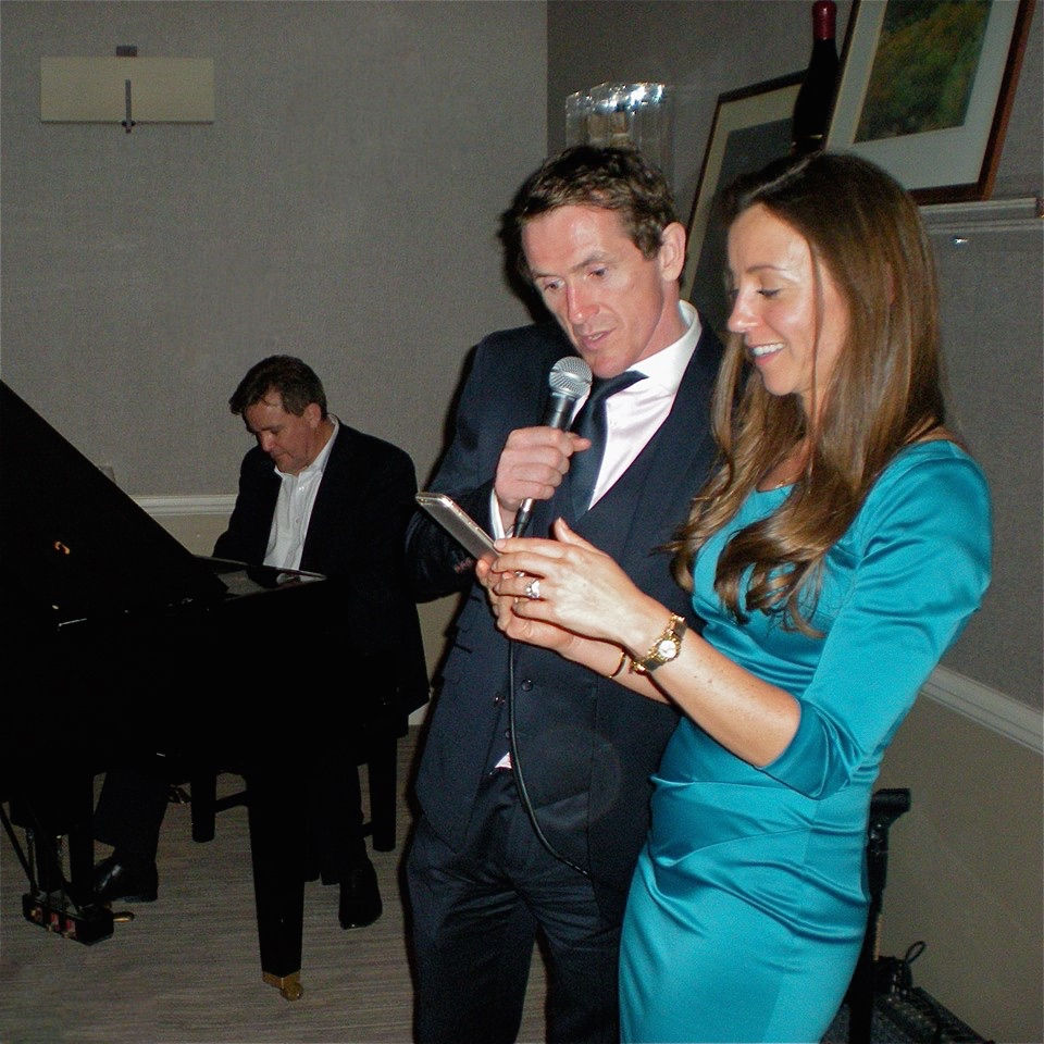 Pianist Richard Sully playing for the retirement party of champion jockey Sir AP McCoy